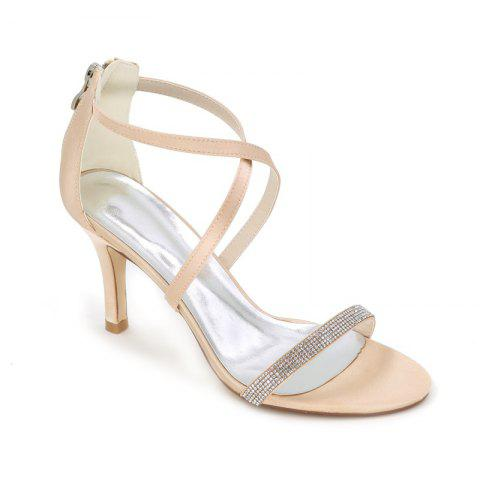 Trendy High-Heeled Sandal Wedding Shoes