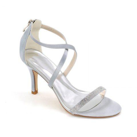 Chic High-Heeled Sandal Wedding Shoes