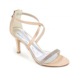 High-Heeled Sandal Wedding Shoes -