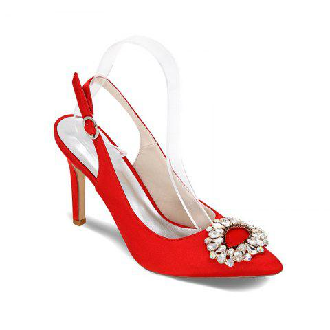Chic High Heels Pointed Diamond Wedding Shoes