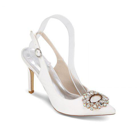 Shop High Heels Pointed Diamond Wedding Shoes