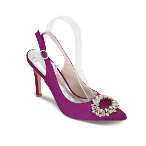 New High Heels Pointed Diamond Wedding Shoes