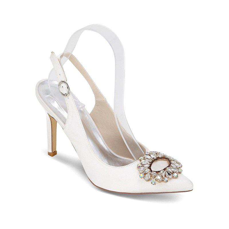 Fashion High Heels Pointed Diamond Wedding Shoes