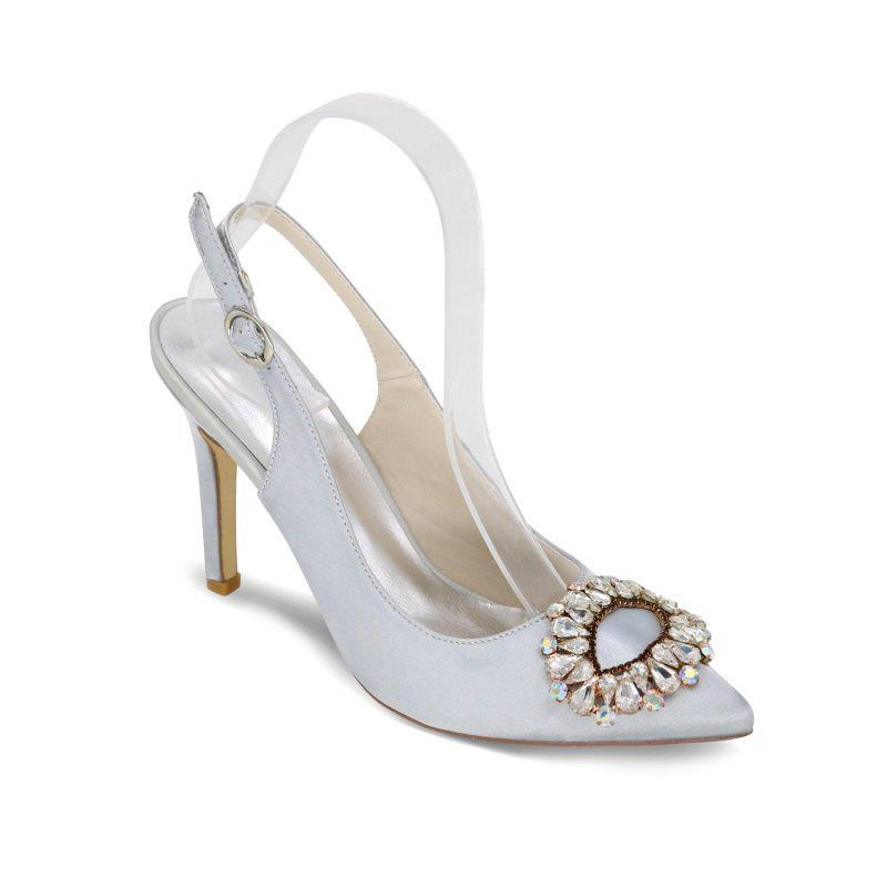 Affordable High Heels Pointed Diamond Wedding Shoes