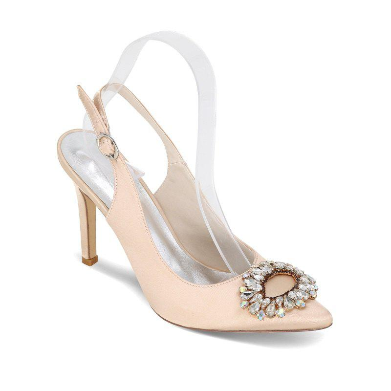 Buy High Heels Pointed Diamond Wedding Shoes