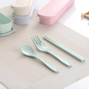 Bamboo Fiber Incense Portable Tableware Set and Natural Environmental Protection Family Suit -