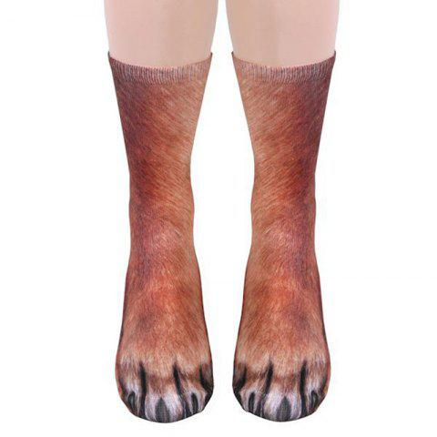 Nouvel Unisexe animal Adulte Patte Equipage Impression Homme / Chaussettes Femmes