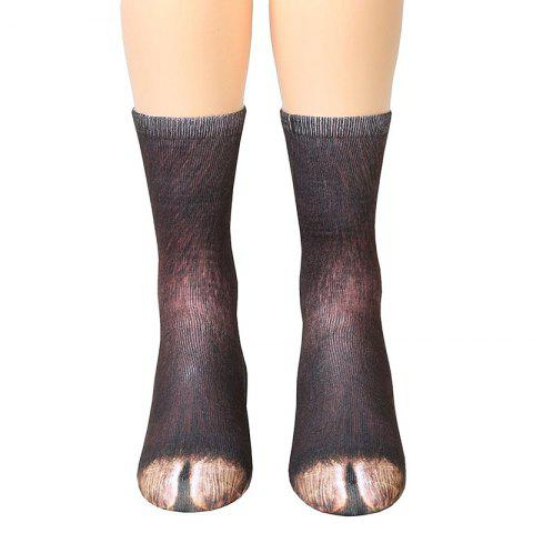 Best New Unisex Adult Animal Paw Crew Print Man/Women Socks