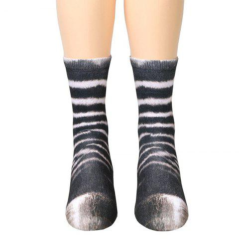 Chic New Unisex Adult Animal Paw Crew Print Man/Women Socks