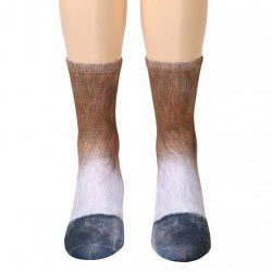 New Unisex Adult Animal Paw Crew Print Man/Women Socks -