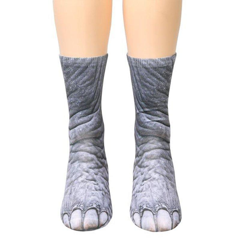 Discount New Unisex Adult Animal Paw Crew Print Man/Women Socks