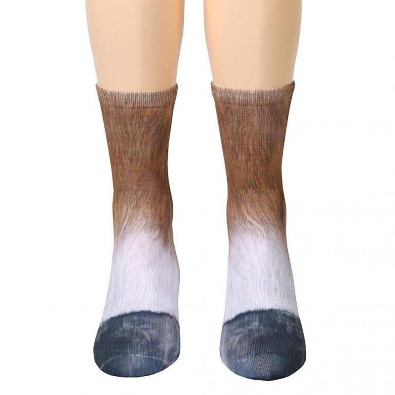 Latest New Unisex Adult Animal Paw Crew Print Man/Women Socks