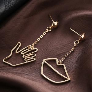 Simple Personality Asymmetric Creative Long Earrings -