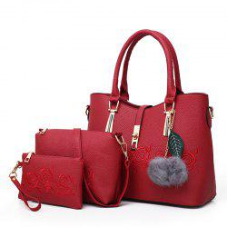 Three Pieces Fashion Handbag Wild Shoulder Messenger Bag -