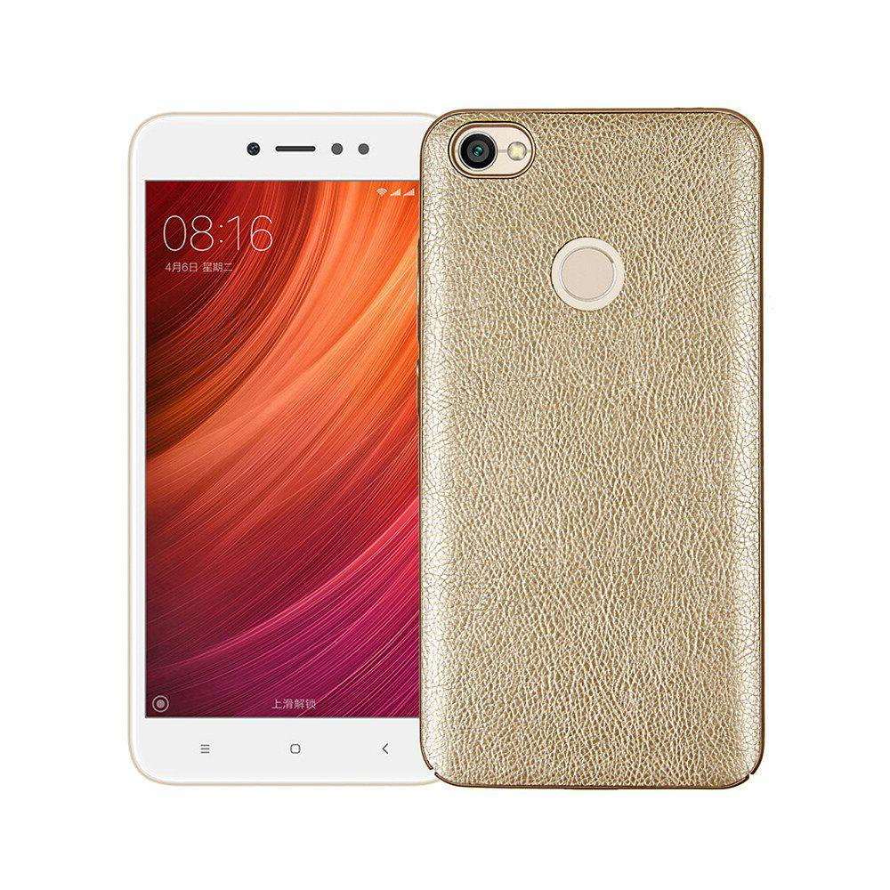 Fancy Cover Case for Xiaomi Redmi Note 5A Prime Following From Leather Grain + PC