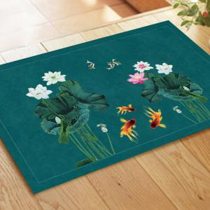 Chinese Style Fish Water and Lotus Pattern Carpet Pads -