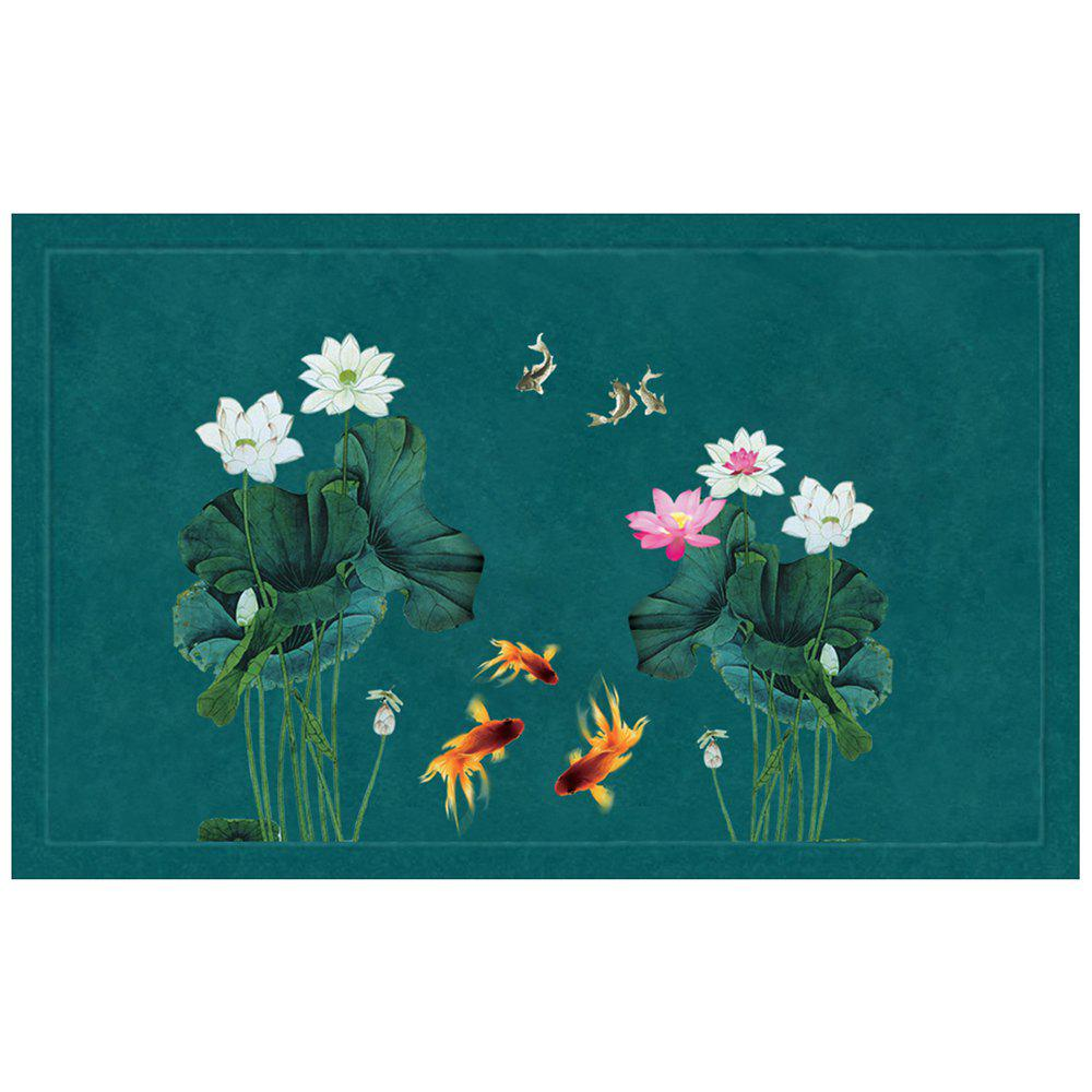 Affordable Chinese Style Fish Water and Lotus Pattern Carpet Pads