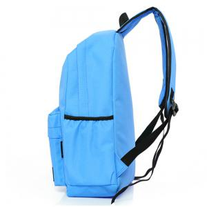 Men's Backpack Casual Simple Solid Color Travel Zipper Schoolbag -