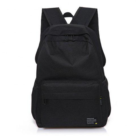 Trendy Men's Backpack Casual Simple Solid Color Travel Zipper Schoolbag