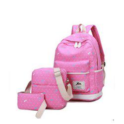 Girl's Bags Set Floral Backpack&Shoulder Bag&Pencil Bags School Bags Set -
