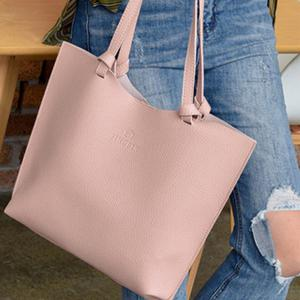 Women's Shoulder Bag Solid Color Preppy Style All Match Bags Set -