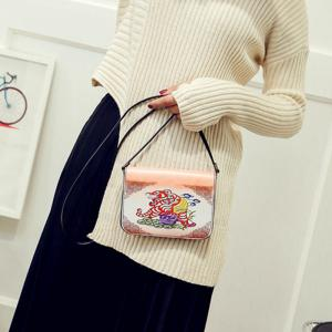Women's Shoulder Bag Color Block Patchwork Faux Leather Bag -