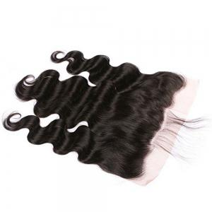 Lace Frontal Brazilian Body Wave Virgin Human Hair Free Part Natural Color Bleached Knots -