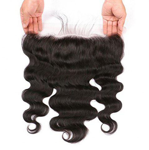 Trendy Lace Frontal Brazilian Body Wave Virgin Human Hair Free Part Natural Color Bleached Knots