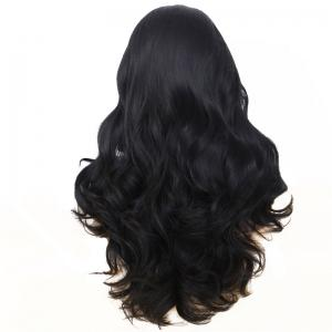 Long Natural Wavy Hair Synthetic Lace Front Wig Heat Resistant for Beauty Woman with Baby Hair -