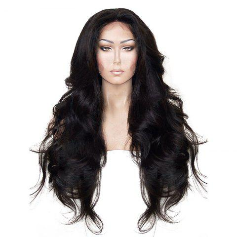 Unique Long Natural Wavy Hair Synthetic Lace Front Wig Heat Resistant for Beauty Woman with Baby Hair