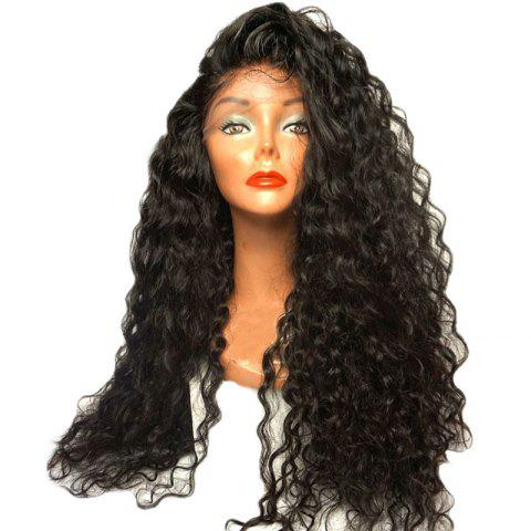 Hot Long Loose Curl Hair Wigs Natural Black Color Synthetic Lace Front Wig with Baby Hair 24 inch 26 inch