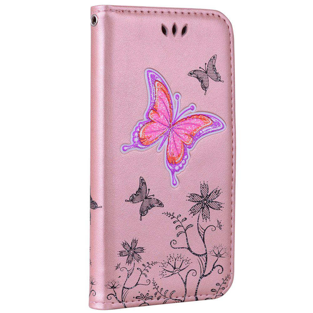 Latest for Samsung Samsung Galaxy S7 Butterfly Pattern PU Leather Wallet Flip Protective Case Cover with Card Slots