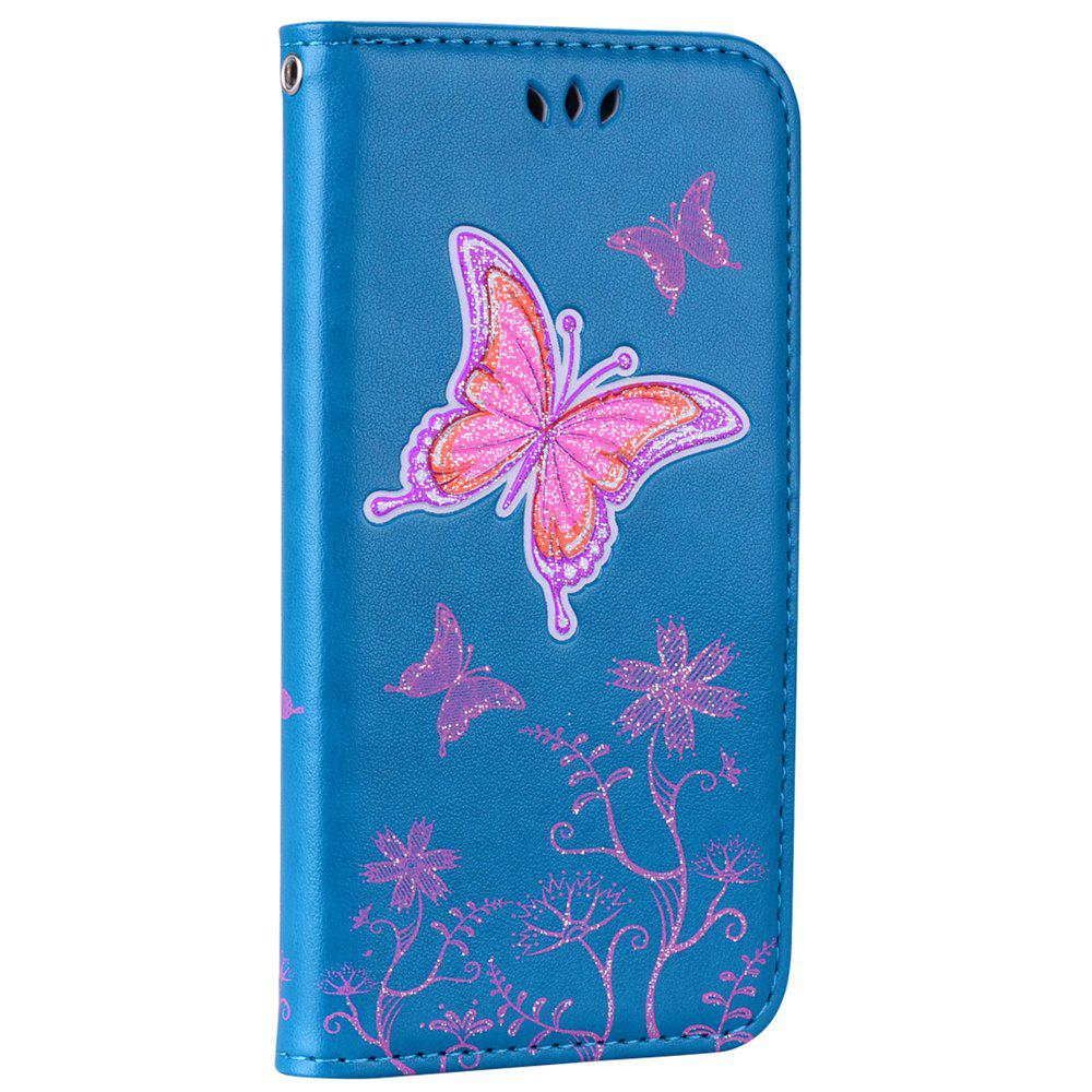 Buy for Samsung Samsung Galaxy S7 Butterfly Pattern PU Leather Wallet Flip Protective Case Cover with Card Slots