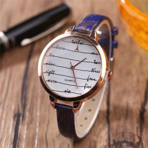 Khorasan Fashionable Simple Leather band Ladies Watch -