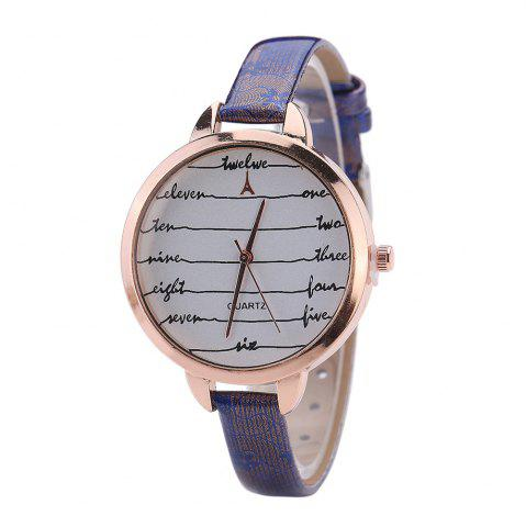 New Khorasan Fashionable Simple Leather band Ladies Watch