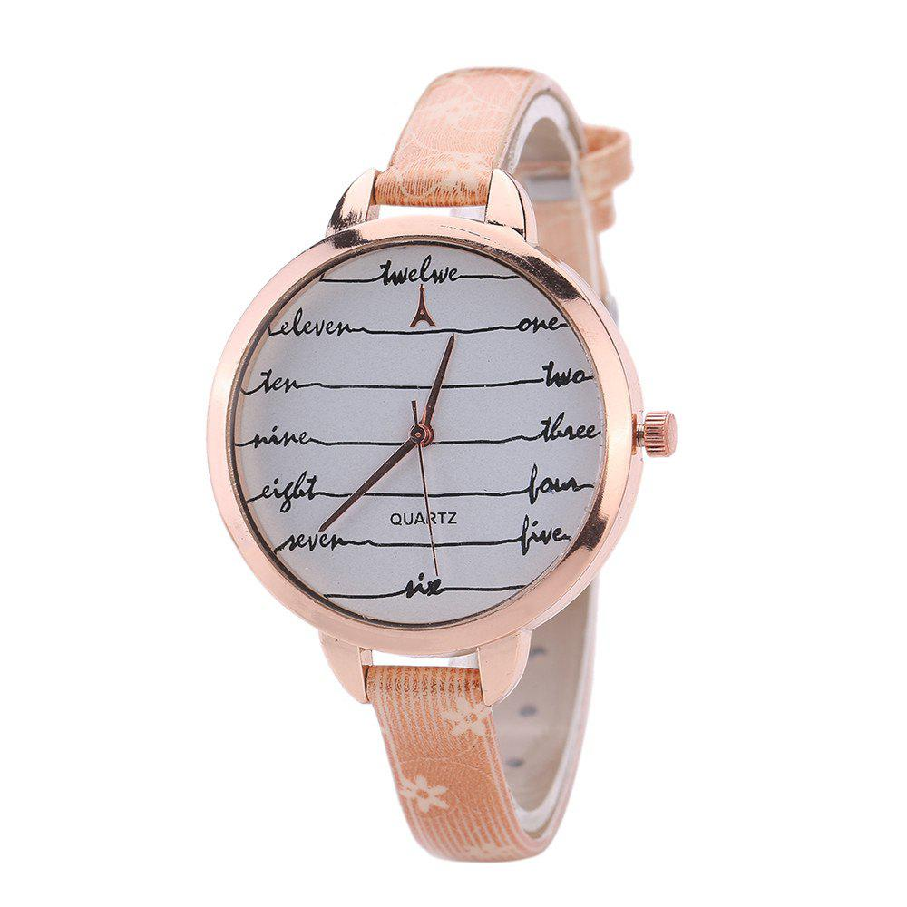 Store Khorasan Fashionable Simple Leather band Ladies Watch