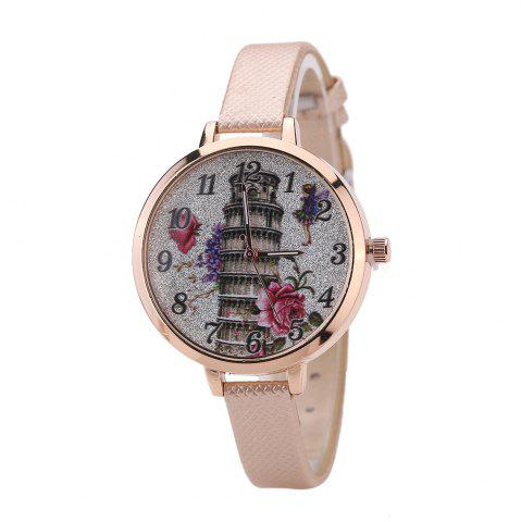 Best Khorasan The Leaning Tower of Pisa Pattern Personality Quartz Watch