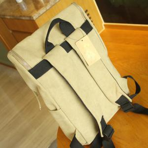 1Pc Canvas Backpack Computer School Wind High School Bag -