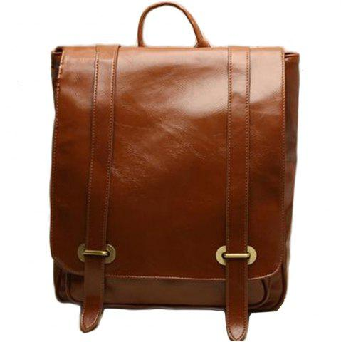 Best 1Pc Leather Backpack Men'S School Bags