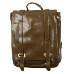 1Pc Leather Backpack Men'S School Bags -