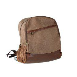 1Pc Canvas Backpack Travel Shoulder Bag School Bags -