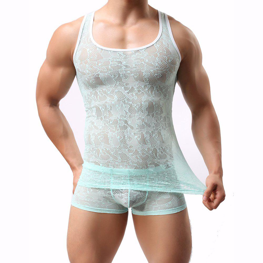 Hot Male Lace  Sexy Semitransparent Vest