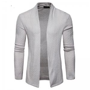The New Spring Fashion Men Polo Shawl Knitted Cardigan Sweater -