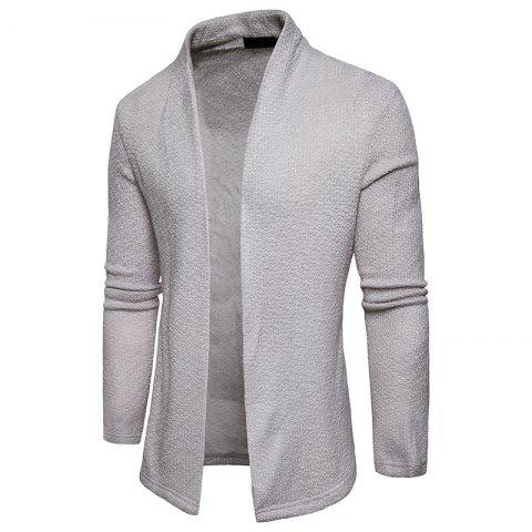 Chic The New Spring Fashion Men Polo Shawl Knitted Cardigan Sweater