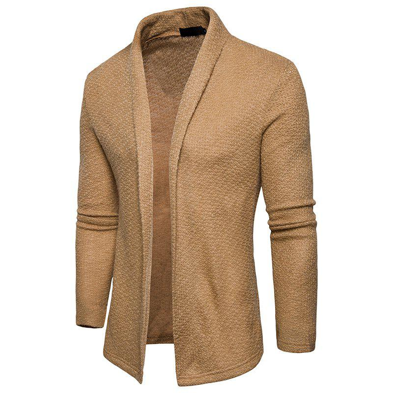 Store The New Spring Fashion Men Polo Shawl Knitted Cardigan Sweater