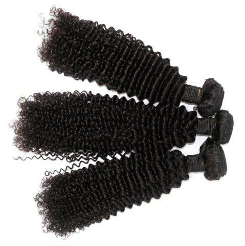 Discount Kinky Curl 100 Percent Brazilian Human Virgin Hair Weave 10 - 22 inch 4pcs/lot