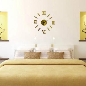 Unique Design Round Modern Style Wall Stickers Clock Decoration -