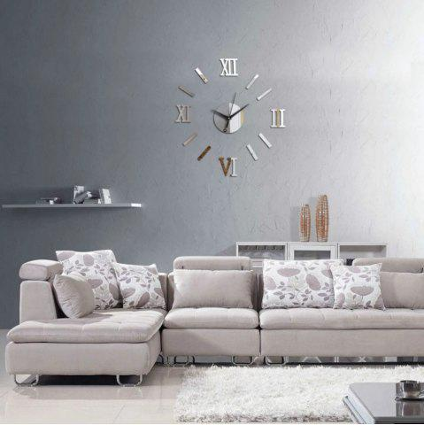 Décoration moderne d'horloge d'autocollants de mur de style moderne de conception unique