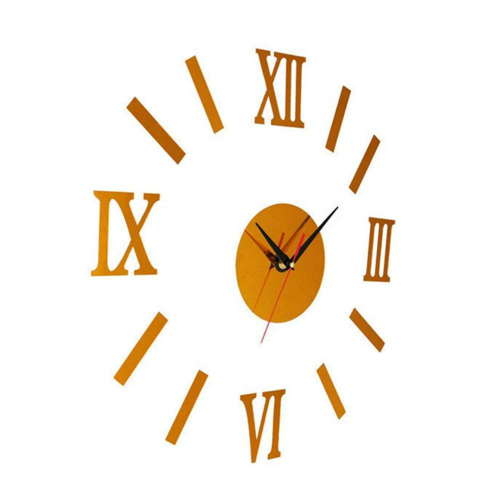 Latest Unique Design Round Modern Style Wall Stickers Clock Decoration