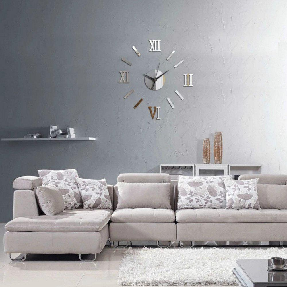 Shop Unique Design Round Modern Style Wall Stickers Clock Decoration